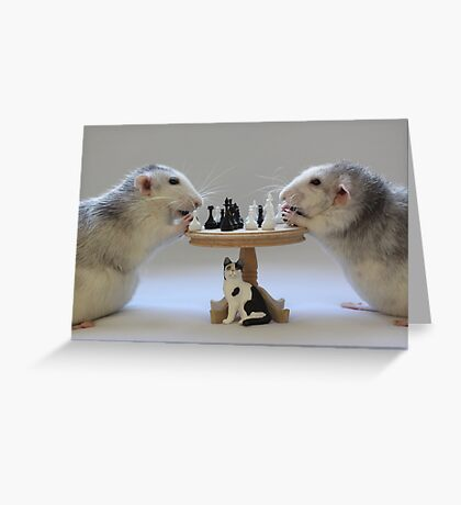 The real Chess Players :) Greeting Card