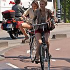 Two Girls on Bicycles by DJohnW