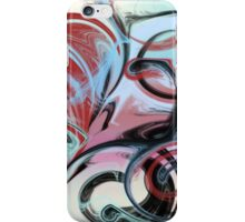 Abstract in Pink, Red, Blue, and Black iPhone Case/Skin