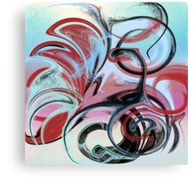 Abstract in Pink, Red, Blue, and Black Canvas Print