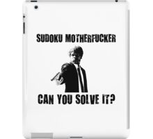 Funny Sudoku Joke Shirt iPad Case/Skin