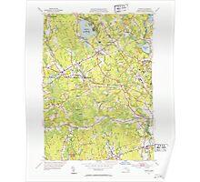 Massachusetts  USGS Historical Topo Map MA Norton 352010 1951 31680 Poster