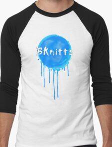 Blue Splat! Men's Baseball ¾ T-Shirt