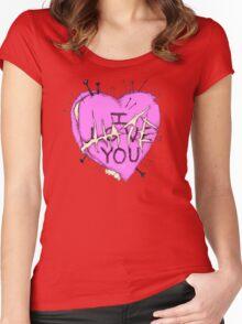 Love Voodoo Heart Women's Fitted Scoop T-Shirt