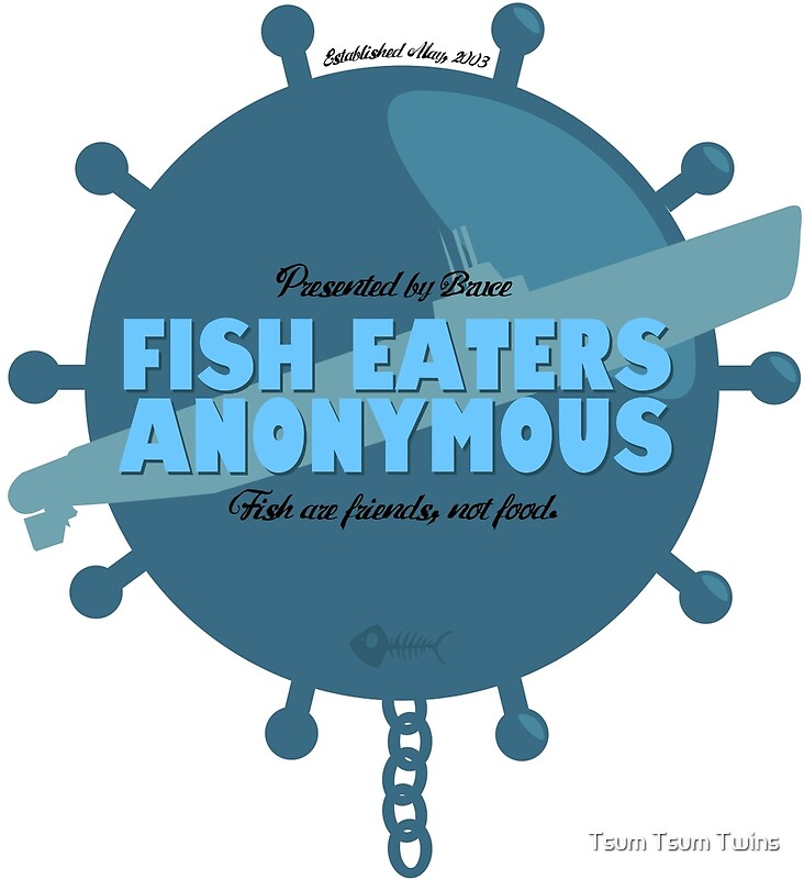 "Fish Eaters Anonymous"" Metal Prints by Nani & Ceci 