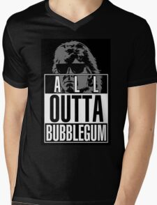 STRAIGHT (ALL) OUTTA BUBBLEGUM Mens V-Neck T-Shirt