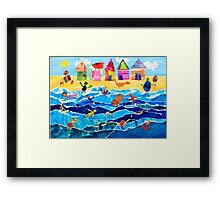 Brighton Beach Boxes Framed Print
