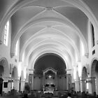 The Benedictine Sanctuary ~ Black &amp; White by Lucinda Walter