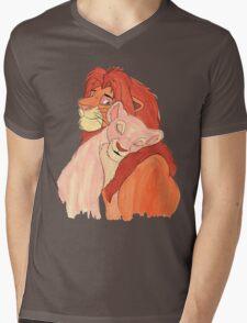 Lion Love Mens V-Neck T-Shirt