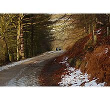 Wintery Walkers Photographic Print