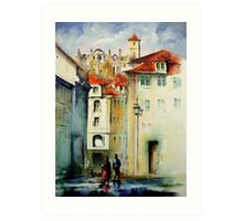 lisbon old city.. Art Print