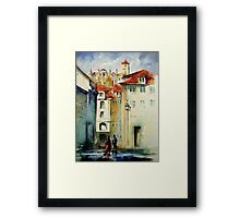 lisbon old city.. Framed Print