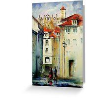 lisbon old city.. Greeting Card