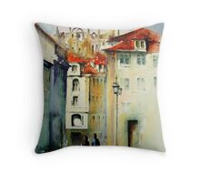 lisbon old city.. Throw Pillow