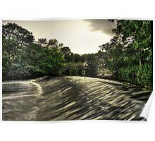 Newlay Weir and Pollard Bridge Poster