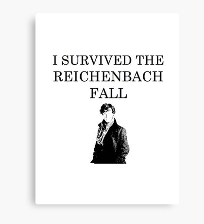 I survived the Reichenbach fall Canvas Print