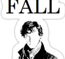 I survived the Reichenbach fall Sticker