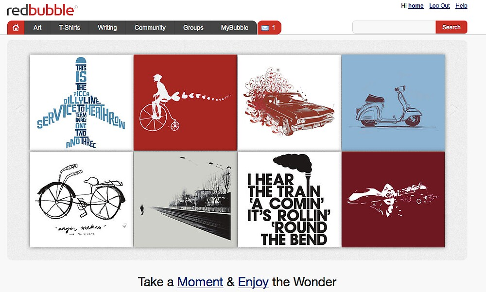 TransporTEEtion - 7 October 2010 by The RedBubble Homepage