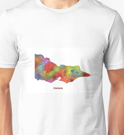 Victoria State Map Unisex T-Shirt