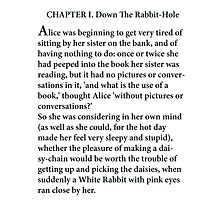 Alice's Adventures in Wonderland Photographic Print