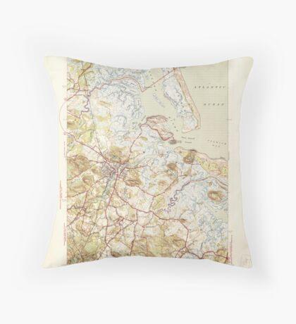 Massachusetts  USGS Historical Topo Map MA Ipswich 351818 1945 31680 Throw Pillow