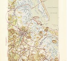 Massachusetts  USGS Historical Topo Map MA Ipswich 351818 1945 31680 by wetdryvac