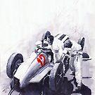 Mercedes Benz W125 Rudolf Caracciola the German GP Nurburgring 1937 by Yuriy Shevchuk