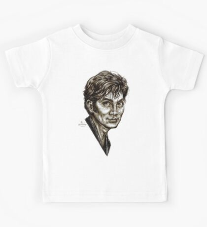 David Tennant - Doctor Who - Allons-y (Drawing) Kids Tee