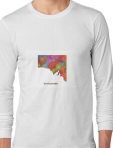 South Australia State Map Long Sleeve T-Shirt