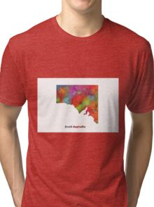 South Australia State Map Tri-blend T-Shirt