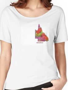 Queensland State Map Women's Relaxed Fit T-Shirt