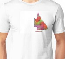 Queensland State Map Unisex T-Shirt