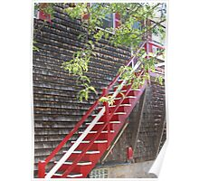 The Red Staircase Poster