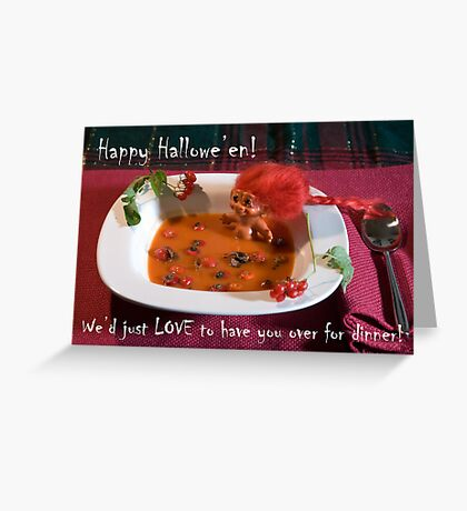 Cream of Troll and Rosehip Greeting Card