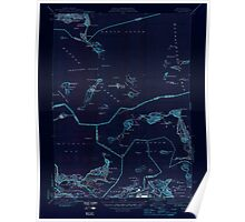 Massachusetts  USGS Historical Topo Map MA Hull 351806 1946 31680 Inverted Poster