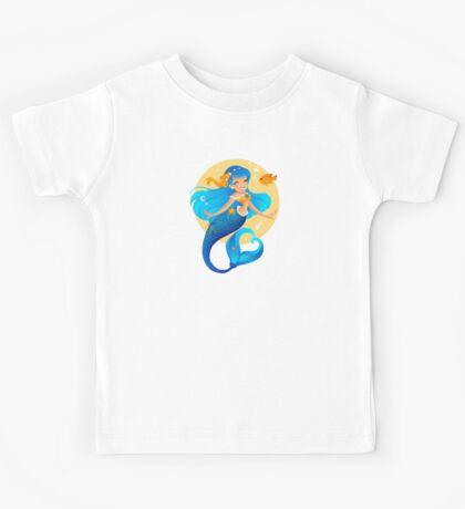 Blue Mermaid  Kids Tee