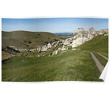 Winding track through limestone country Poster