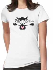 Big sister txt cute smiley face girl One Piece Womens Fitted T-Shirt