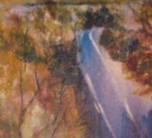 Towards Kilmore East - before the fires. Vic Australia Sticker