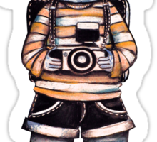 Smile Baby Photographer Sticker