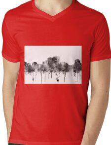 Darwin, Northern Territory Skyline - B&W Mens V-Neck T-Shirt