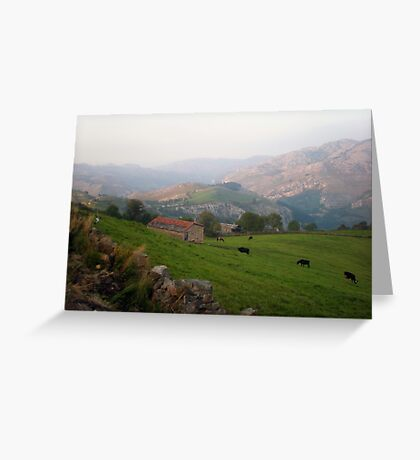 Pastures in Cantabria Greeting Card