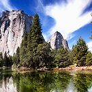 Merced River And Cathedral Rocks by Alex Preiss