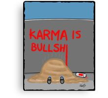 Karma Cartoon Canvas Print