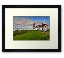 West Quoddy Light - Maine Framed Print