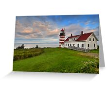 West Quoddy Light - Maine Greeting Card