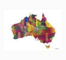 Australia Map 2 One Piece - Short Sleeve