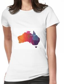 Australia Map 1 Womens Fitted T-Shirt