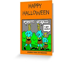 Zombies Trick or Treating Greeting Card
