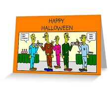 Zombie cocktail party Greeting Card